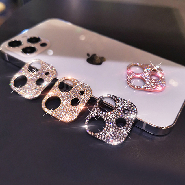 3D Diamond Camera Case For iPhone 12 Pro Max 12 Mini Case Glitter Crystal Camera Lens Protector Cover For iPhone 11 12 Pro Max 2 4