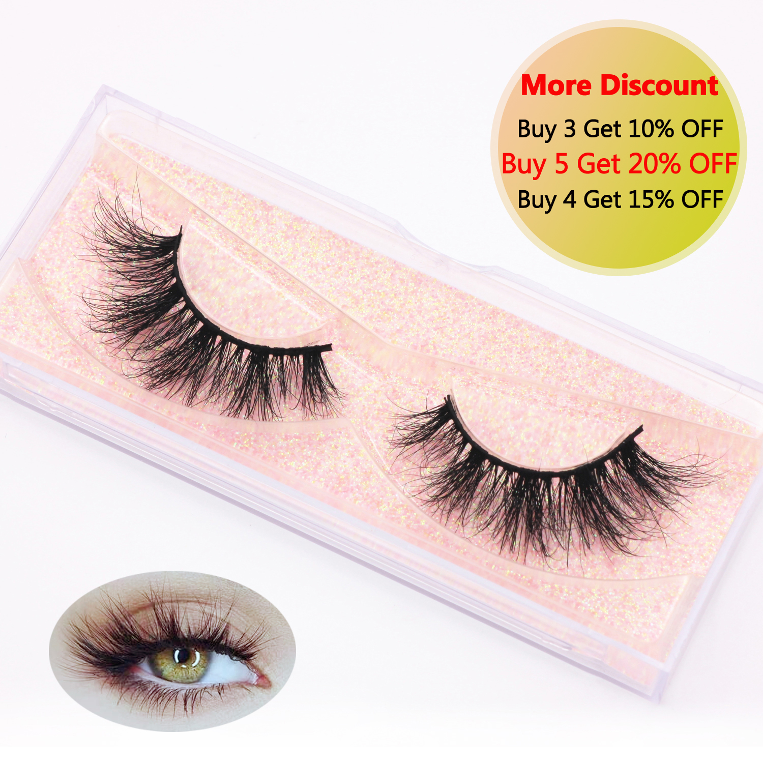KEKEBAICHA Mink Lashes 3D Mink False Eyelashes Natural Lightweight Soft Mink Eyelashes Fluffy Dramatic Eyelashes Makeup E10 Lash