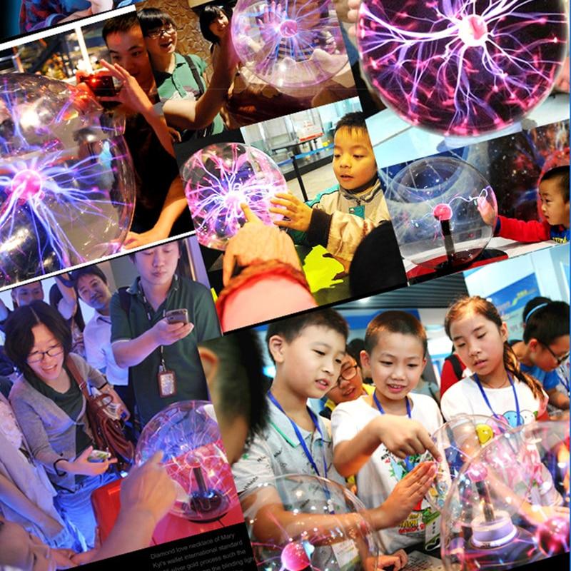 Novelty Magic Plasma Ball LED Night Light EU Plug 3/4/5/6 Inch AC 220V 230V 240V Holiday Party Children Christmas 6
