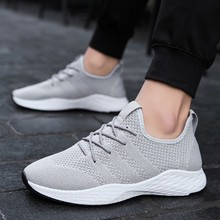 2019 Breathable Summer Shoes Men Casual Fashion Sneakers Mesh Slip On Lightweight Sport Black Red