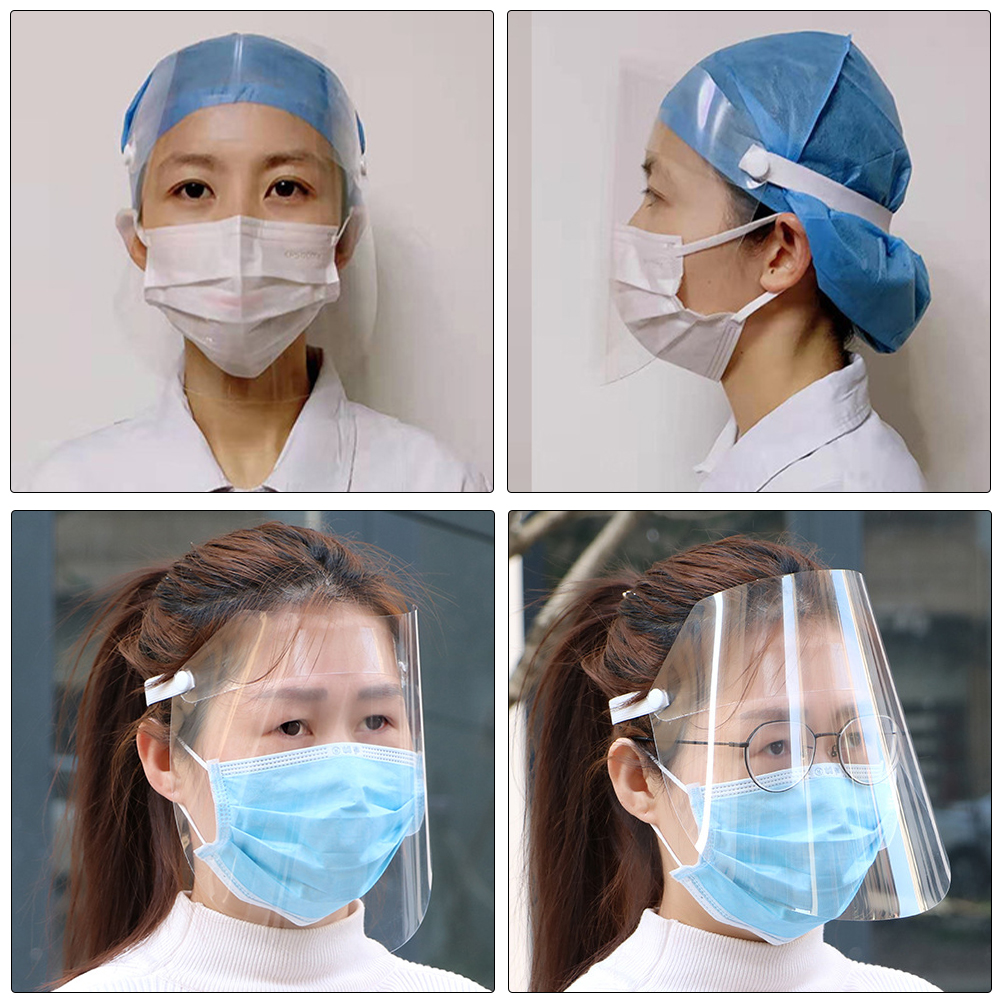 5pcs/10pcs Clear Face Cover and Face Protection Shield for Protection from Droplets/Virus/Flu 5