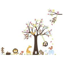 1 Set Cartoon Animal Stickers Lovely Monkeys Wall Stickers DIY Graffiti Wall Decals Adhesive Wallpapers(China)