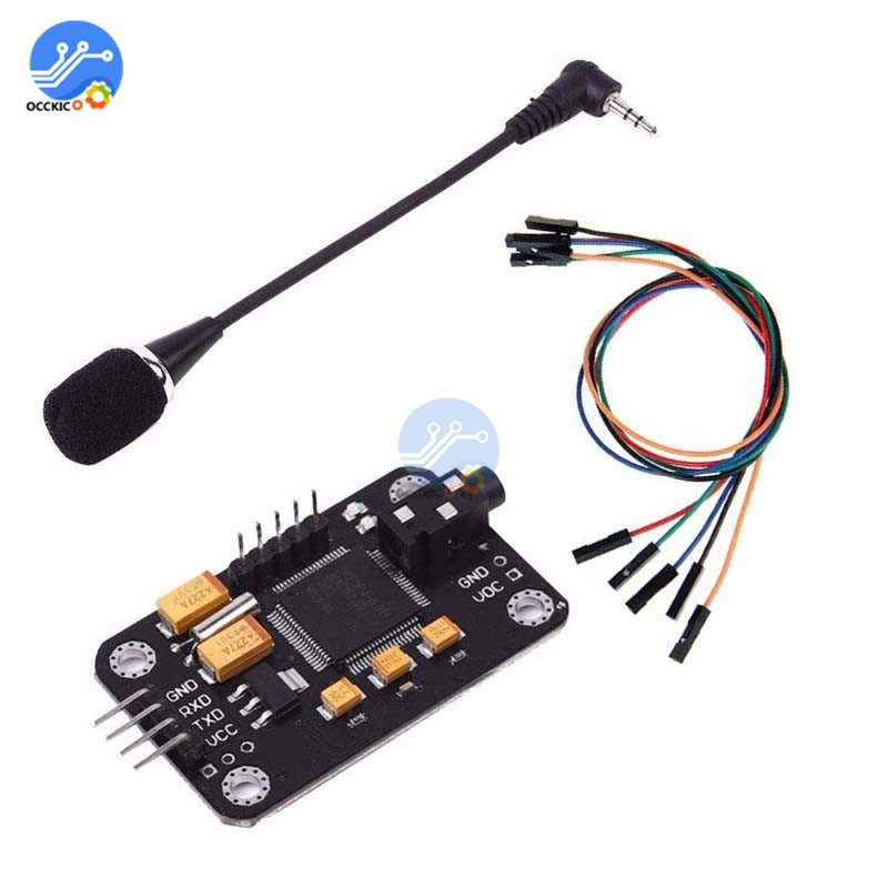 Voice Recognition Module Speech Sound Recognition Voice Control Board For Arduino Compatible With Microphone Dupont Jumper Wire|Voice Recognition/Control Modules| |  - title=