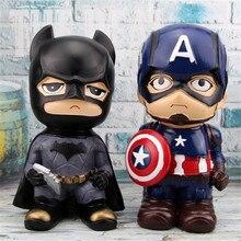 Marvel супергерой, Бэтмен Капитан Америка Железный человек милый копилка Dc Вселенная креативный подарок на день рождения Смола ремесло