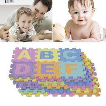 Juego de espuma EVA para bebés, colchoneta con números del alfabeto, rompecabezas...