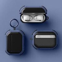 Per Airpods Pro custodia TPU PC custodia anticaduta custodia antiurto per Apple AirPods 2/3 Pro custodia per auricolare Wireless con portachiavi