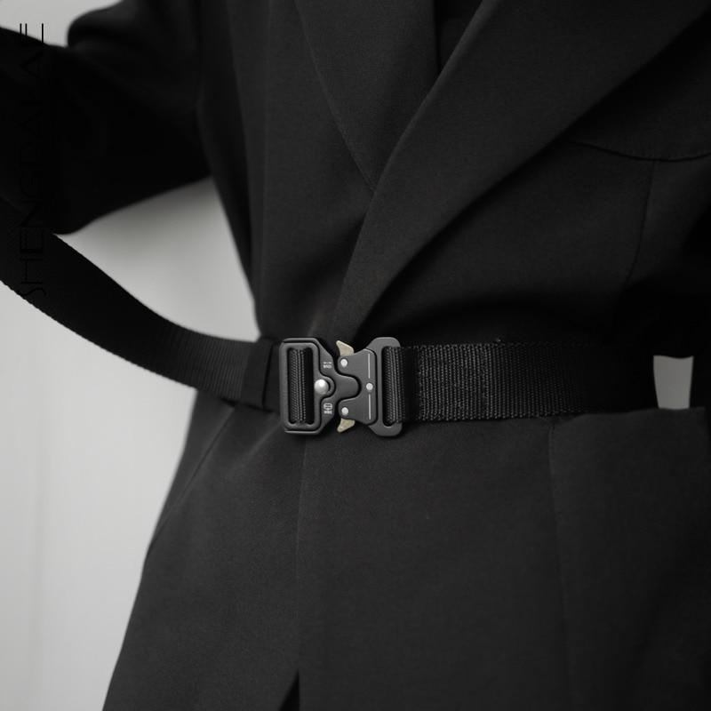 SHENGPALAE Canvas Tactics Sashes Women 2020 New Spring Vintage Fashion Wild Smooth Buckle Temperament Belt Female 5D266
