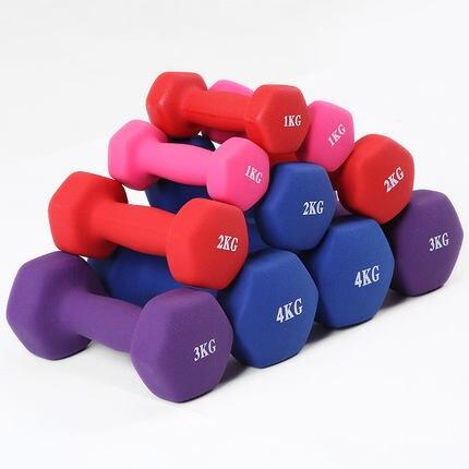 1kgx2pcs ladies dumbbell exercise slimming yoga dipped plastic dumbbell sports jump dance exercise fitness equipment