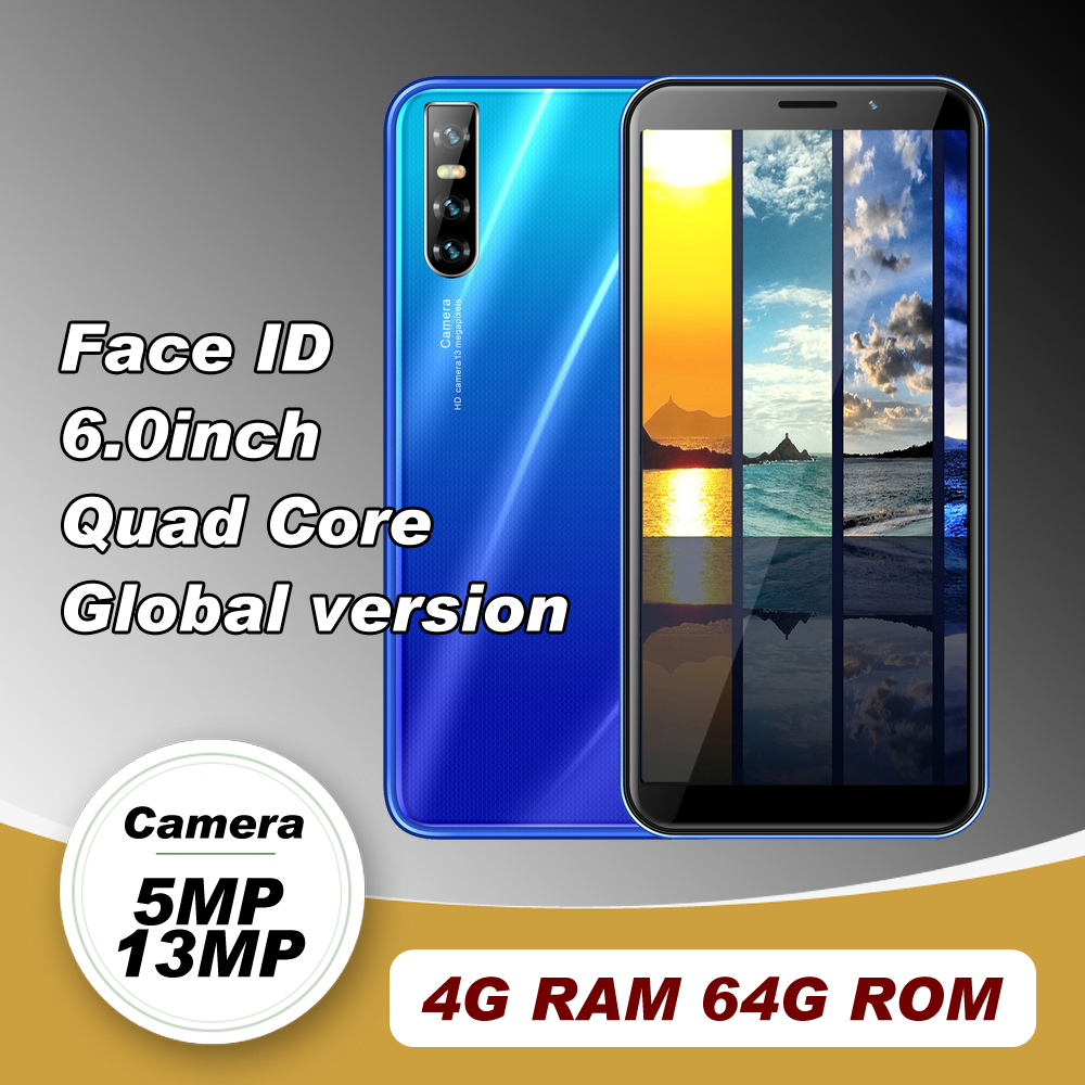A50s смартфон с четырёхъядерным процессором MTK, Android, ОЗУ 4 Гб, ПЗУ 64 ГБ, 13 МП