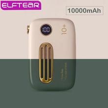 ELFTEAR T37 Mini güç bankası 10000Mah sevimli Retro ince LED dijital Powerbank hızlı şarj Iphone Samsung için harici pil