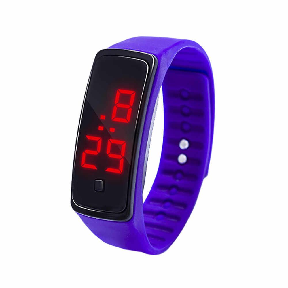 จอแสดงผลLED Digitalนาฬิกาเด็กนักเรียนซิลิกาเจลกีฬานาฬิกาอิเล็กทรอนิกส์นาฬิกาของขวัญนาฬิกาข้อมือผู้ชายlumino3
