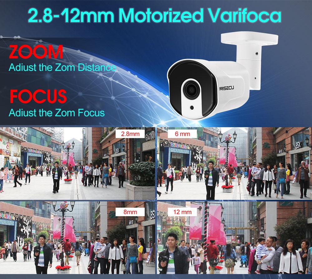 MISECU H.265 / H.264 4.0MP motorizirani zum 48V POE WDR IP Cam 2.0MP - Sigurnost i zaštita - Foto 2
