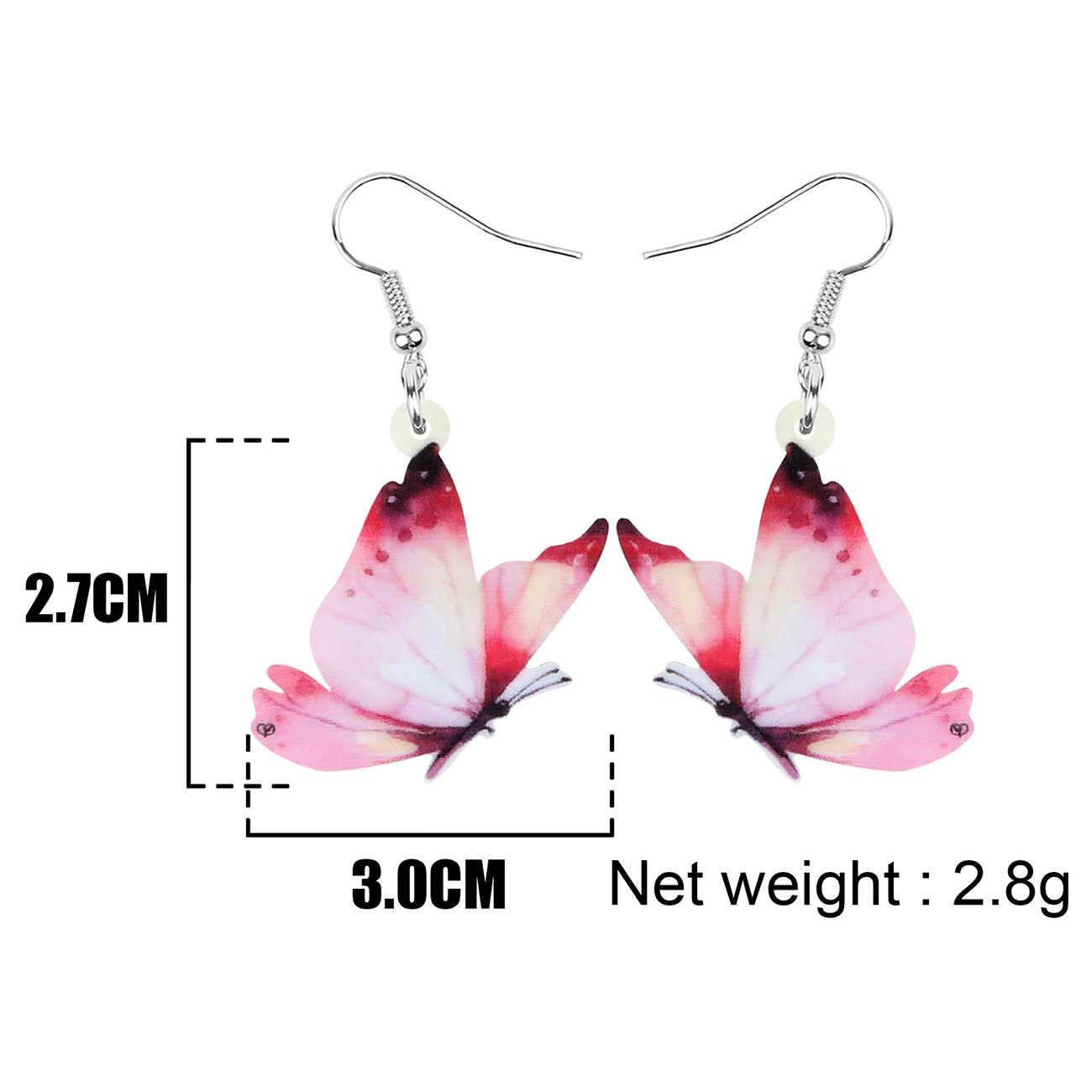 Mode coréen papillon boucles d/'oreilles pour femmes insecte acrylique boucles