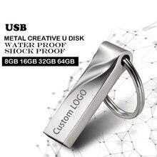 Unidades Flash USB 128 gb mini usb flash pluma de metal de disco clave logotipo pendrive stick tarjeta de memoria flash 32GB/8 GB/4GB/16GB/32GB/128 gb