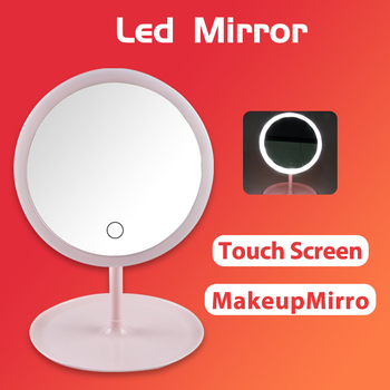 Makeup Mirror With Light Makeup Led Mirror Touch Screen Switch USB Rechargeable Mirror for Countertop Cosmetic Makeup rechargeable motion sensor light mirror led makeup mirror rotation infrared induction makeup mirror battery operated or usb ca
