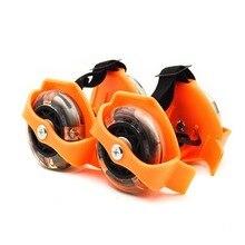 1 пара эластичные мигающие роликовые колеса детские аксессуары 3 цвета шкив износостойкие Вихрь трения обувь для катания на коньках регулируемая
