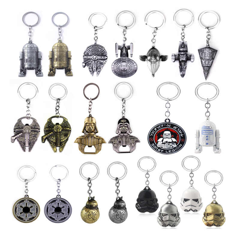 영화 스타 워즈 9 skywalker cosplay keychain props의 상승 kylo ren black warrior stormtrooper 우주선 금속 펜던트