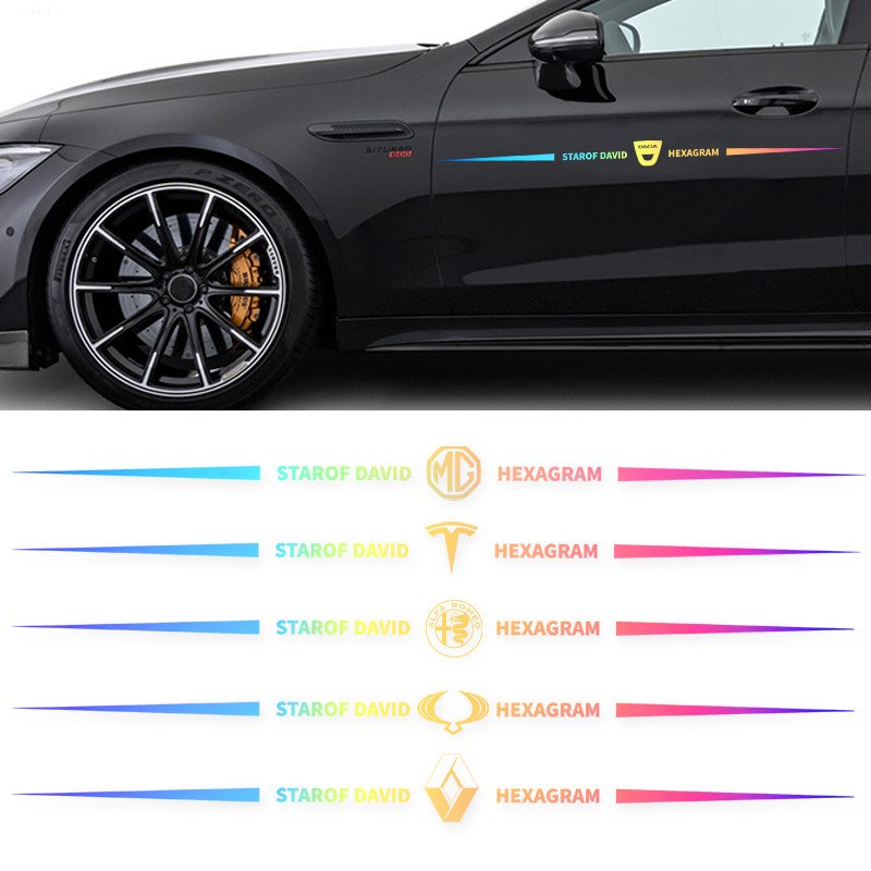 For Renault Kia Opel Tesla Alfa Romeo 1PCS 65CM Front and rear windshield vinyl film stickers decorative stickers car styling