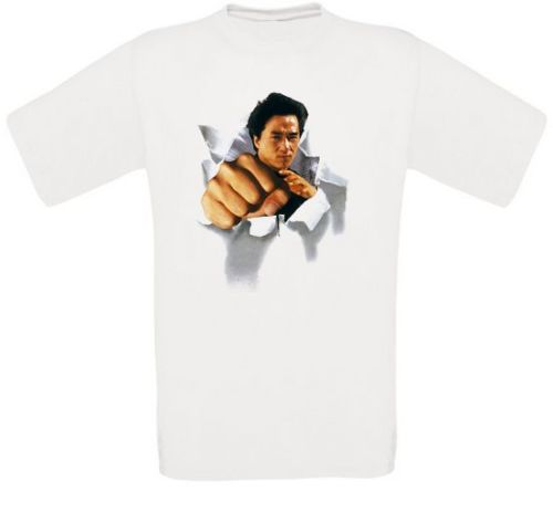 Jackie Chan Drunken Master Karate Movie T-Shirt Alle Größen NEU image