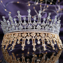 Fashion Western Full Cubic Zirconia Sweet 16 Princess Crowns Wedding Bridal Tiaras CZ Pageant Hair Jewelry Party Prom Headpieces exellent full aaa cz crowns tiara bridal wedding hair jewelry accessories pageant headpiece tr15063