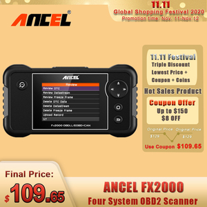 Image 1 - ANCEL FX2000 OBD2 Automotive Scanner Professional ABS Airbag Transmission Car Diagnostic Tool Multi Language OBD2 Free Update