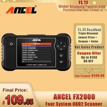 ANCEL FX2000 OBD2 Automotive Scanner Professionale ABS Airbag Trasmissione Auto Strumento Diagnostico Multi Lingua OBD2 Gratuito di Aggiornamento