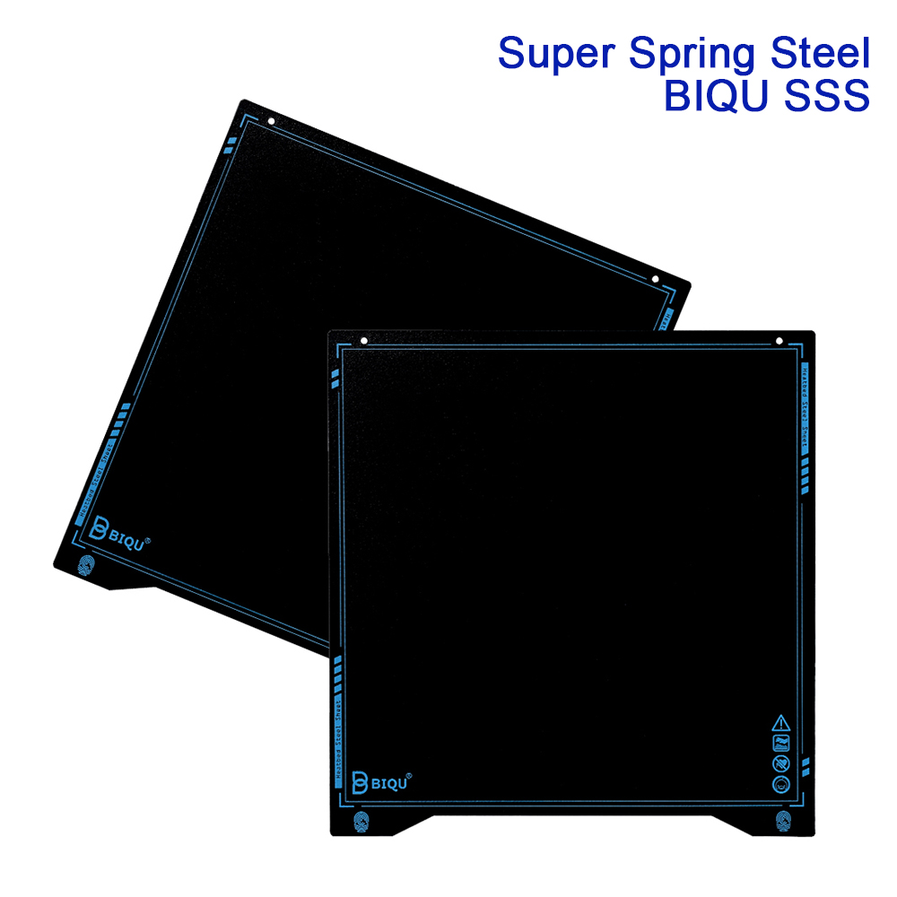 BIQU SSS Super Spring Steel Sheet Heat Bed 235x235MM Heated Flexible BuildPlate 3D Printer Parts PLA PETG Filament Ender3 I3 MK3