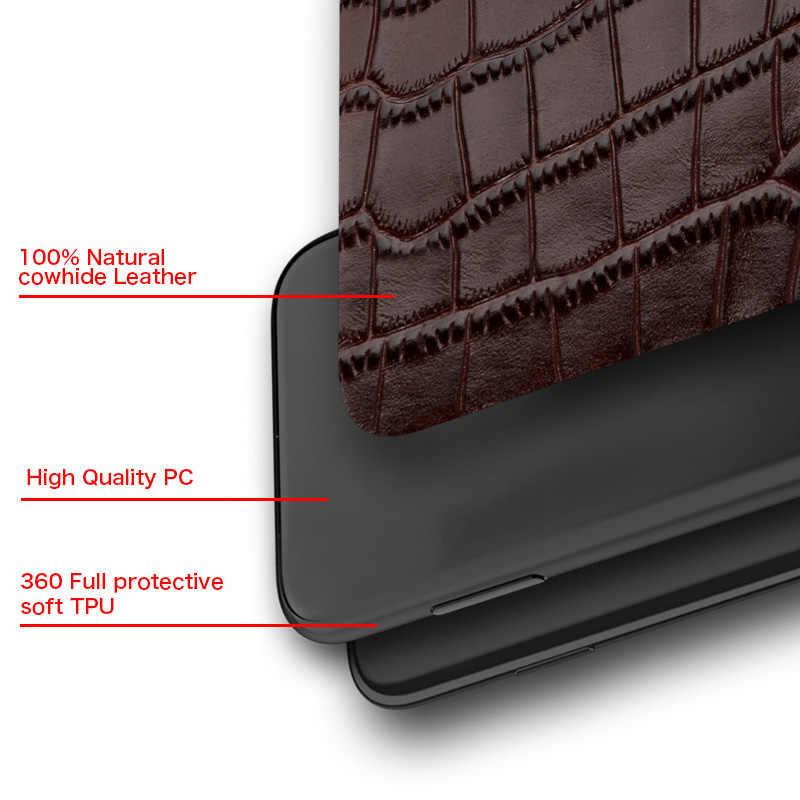 Funda magnética de cuero genuino con soporte para teléfono celular para Oneplus 7T Pro 7 Pro 6T 8 Pro para One Plus 7 Pro 5 5T 7 7Pro 8Pro