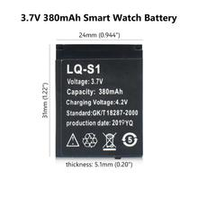 цена на Durable Smart Watch Battery 1Pcs LQ-S1 3.7V 380mAh Lithium Rechargeable for DZ09 W8