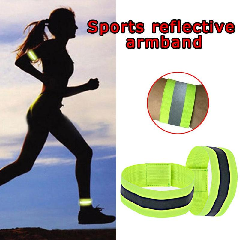 1pcs Women Running Arm Bracelet Night Sports Reflective Luminous Arm Band For Girls Outdoor Men Cycling Arm Belt