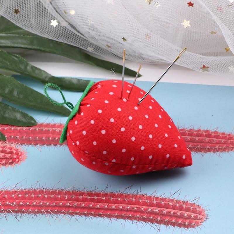 Игольчатая подушка в виде клубники, вышивка крестиком, швейная булавка, подушка с мягкой хлопковой тканью, DIY инструмент для рукоделия, для вышивки крестиком
