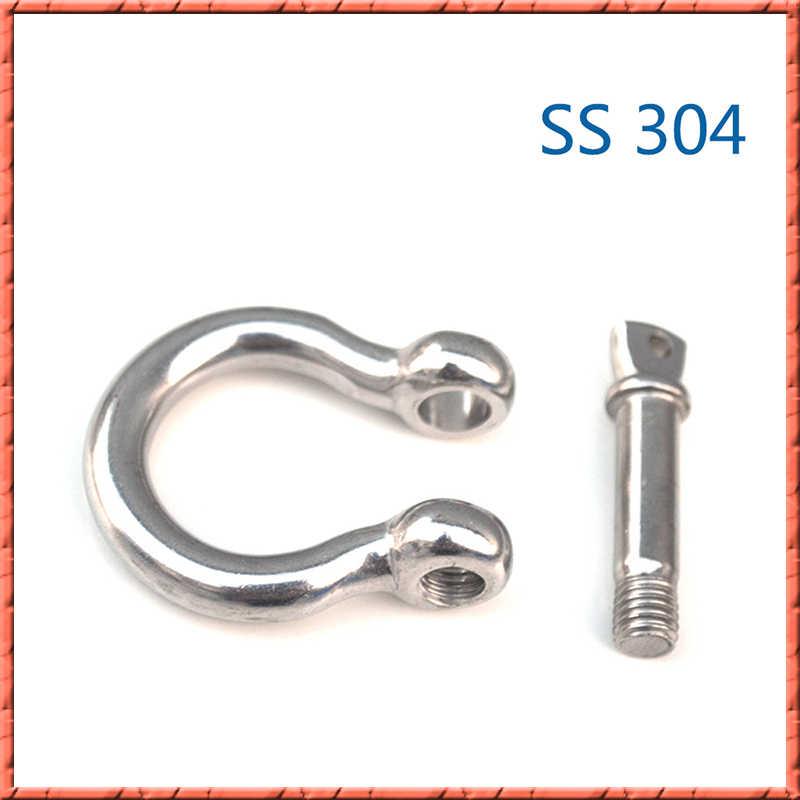 1-10 Stks/partij Rvs U-Bouten Harpsluiting M4/M5/M6/M8/M10 /M12/M16/M20 Type U Sling Schroef Touw Schroef Harpsluiting Manchetknopen