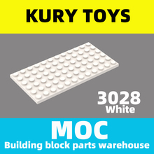 Kury Toys DIY MOC For 3028 Building block parts For Plate 6 x 12 For Plate