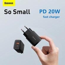 Baseus PD 20W USB typ C ładowarka dla iPhone 12 11 X Xs Xr 7 AirPods iPad Mini ue Adapter szybka ładowarka telefonu przenośne szybkie ładowanie