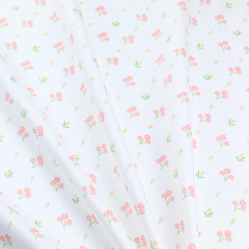 100% Floral de unicornios tela de sarga de algodón DIY vestido de ropa para bebé, acolchado coser cuartos de tela de tejido grueso costura
