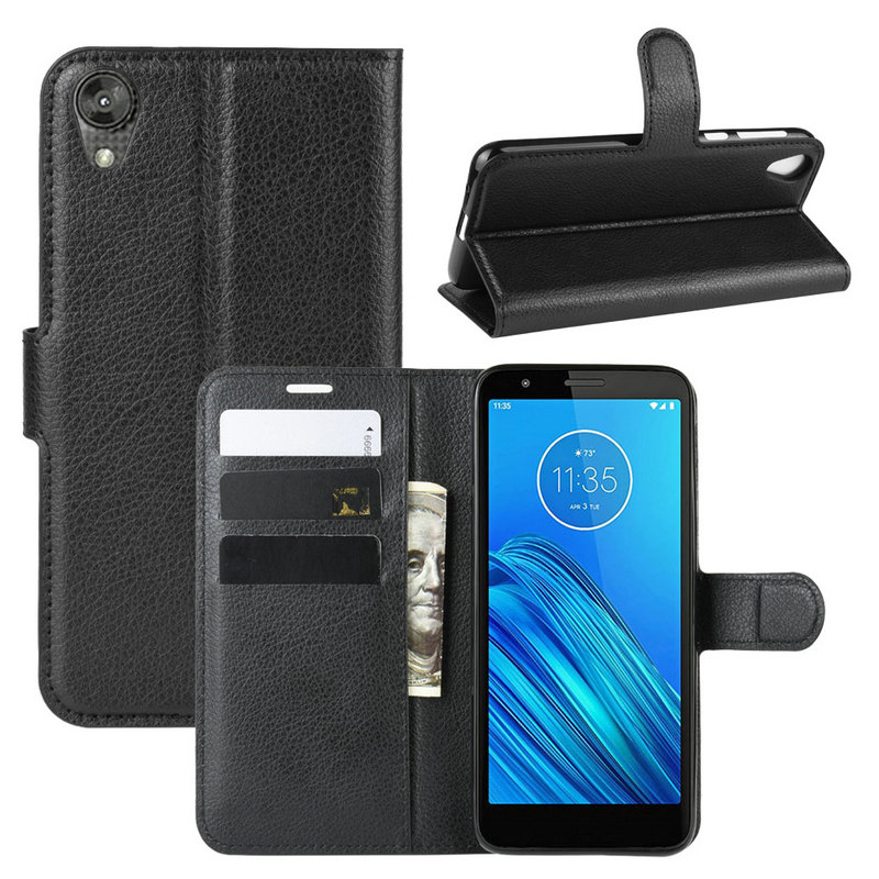 For Motorola Moto E6 Wallet Phone Case for Moto E6 Plus E6s for Moto E Plus 6th Gen Flip Leather Cover Case Capa Etui Coque