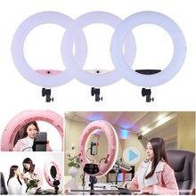FD-480II 96W 5500K 480 LED éclairage photographique anneau lumière lampe Dimmable vidéo Studio/appareil Photo/téléphone photographie anneau lumière