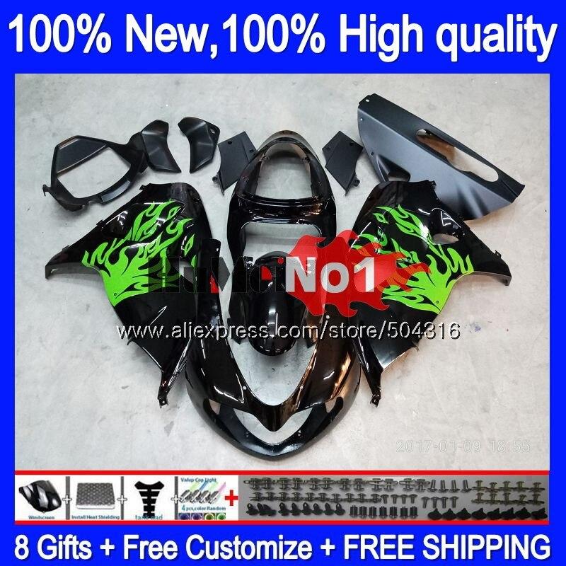 Body For SUZUKI SRAD TL1000 TL 1000 R 1000R 25MC.18 Black Green TL1000R 1998 1999 2000 2001 2002 2003 98 99 00 01 02 03 Fairing|Motocycle Covers| |  - title=