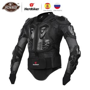 Image 1 - HEROBIKER Motorcycle Armor Protective Gear Motorcycle Jacket Body Armor Racing Moto Jacket Motocross Clothing Protector Guard