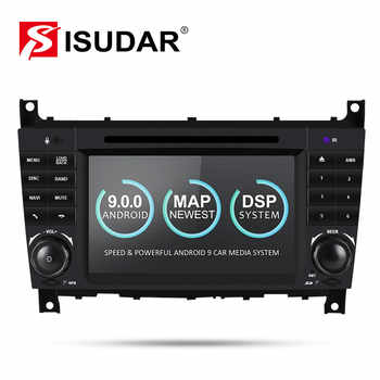 Isudar 2 Din Auto Radio Android 9 For Mercedes/Benz/W203/CLK200/CLK22/C180/C200 CANBUS Car Multimedia Video DVD Player GPS DVR - DISCOUNT ITEM  0% OFF All Category