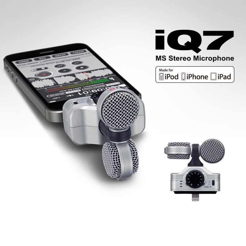 Zoom IQ7 Giữa Bên Stereo Ngưng Tụ Micro Thu Âm Cho iPhone, iPad Và IPod Touch Microphones  - AliExpress