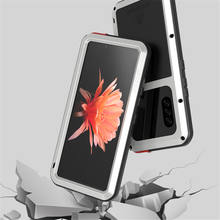 For Sony Xperia 10 II Case Original Lovemei Aluminum Metal + Gorilla Glass Shock Drop Heavy Duty Protection Doom Armor