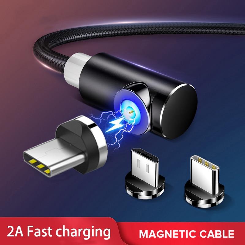 Магнитный кабель USB Type C, 2 А, кабель Micro USB Type C для быстрой зарядки и синхронизации данных, Магнитный зарядный провод|Кабели для мобильных телефонов|   | АлиЭкспресс