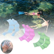 1Pair Unisex Swimming Hand Type Silicone Girdles Swimming Hand Fins  Children Swimming Training Webbed Gloves Adult Frog Hand