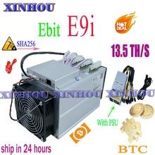Utilisé Asic SHA256 mineur L'ebit E9i 13.5T BTC BCH Mineur plus économique que E10.2 E10.3 antminer S9k S17e T17e T17 S17 T2T T3 M20S
