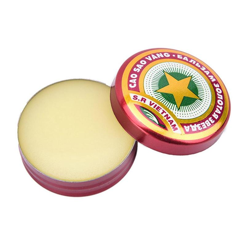 8PCS Golden Star Tiger Balm Ointment For Headache Dizziness Insect Stings Heat Asterisk 4g Stroke Insect Stings Essential Balm