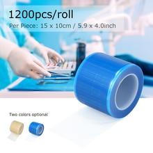1200 adet/rulo diş koruyucu Film tek kullanımlık bariyer koruyucu Film plastik Oral malzeme İzolasyon membran 10*15cm