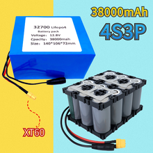 32700 Lifepo4 battery 4S3P 12.8V 38Ah 4S 40A 100A balanced BMS for electric boat and uninterruptible power supply 12V