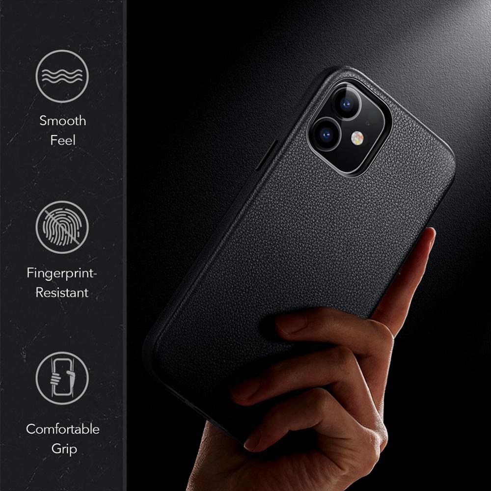 Esr Luxe Case Voor Iphone 12 Lederen Back Cover Voor Iphone 12 Mini 12 Pro Max Echt Lederen Business Case voor Iphone 12 6