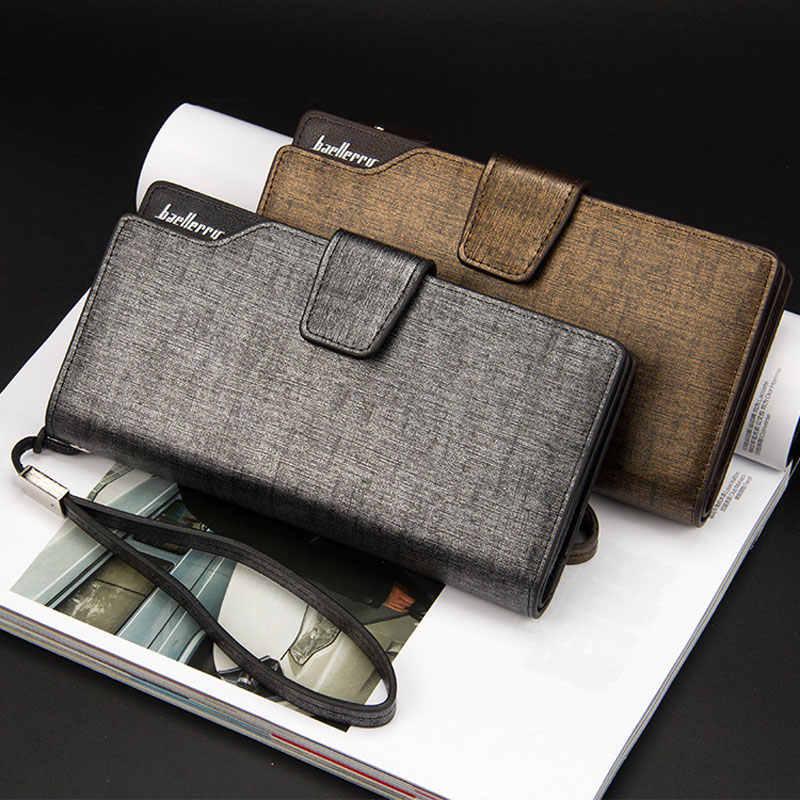 2019 Kaarthouder Mannen Portefeuilles Business Pu Leer Lange Ontwerp Kwaliteit Mode Casual Mannen Portemonnee Rits Multifunctionele Portefeuilles